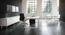 Diamond Executive White Desk