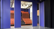 Theater folding chairs and Partition Opening