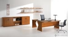 Kompas Cherry Desk and Cherry Low Storage
