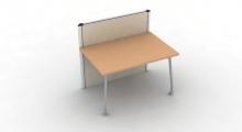 Kompas Desk Screen Hung Desk 1