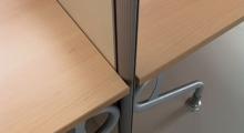 Kompas Desk Screen Hung Leg