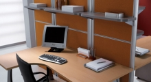 Kompas Desk and Shelf