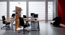 Kompas Desk with Shelving