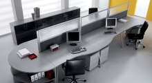 Kompas Desk with wave desks