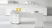 Kompas White Corner Core Desk and Low Storage