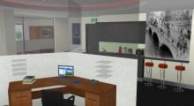 Office Interior Open Plan Render