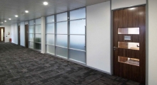 System 6000 Glazed Frosted Partitioning
