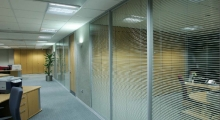 System 6000 Glazed with Blinds