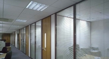 System 7000 Glazed with Blinds