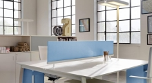 TenUp Benching Desk System Desk Mounted Screen