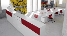 TenUp Benching Desk System with Storage