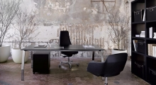 TenUp Benching Executive Desk with Black Glass Top